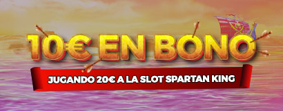 ¡Llévate un Bono de Casino de hasta 50€ jugando a la slot Spartan King!