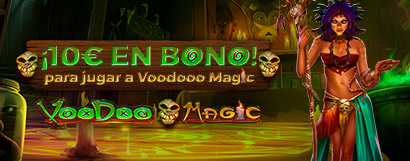 ¡Regalo de 10€ en Bono de Casino para Voodoo Magic!