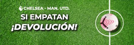 Promoción para tus apuestas de fútbol: Si empatan y no aciertas ¡devolución!