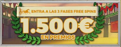 Entra en las 3 fases de Free Spins de TimeLab 2 ¡Repartimos 1.500€ en premios!
