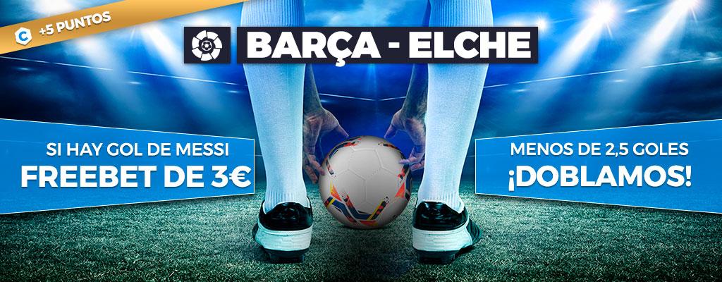 Promoción para tus apuestas de fútbol: Menos 2,5 ¡doblamos! Marca Messi 3€