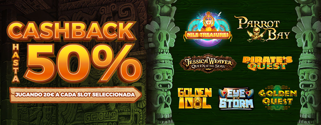 Promoción: ¡Juega 20€ a cada una de las Slots seleccionadas y acumula Cashback!