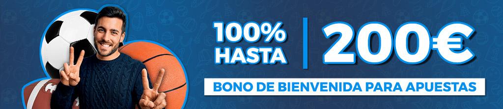 Bono de Bienvenida: Apuestas Deportivas 100% Hasta 150€