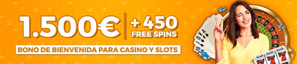 Te regalamos hasta 1.500€ y 450 Free Spins para jugar en nuestro Casino