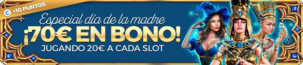 Promoción para Casino y Slots: Gana 70€ jugando a las Slots seleccionadas