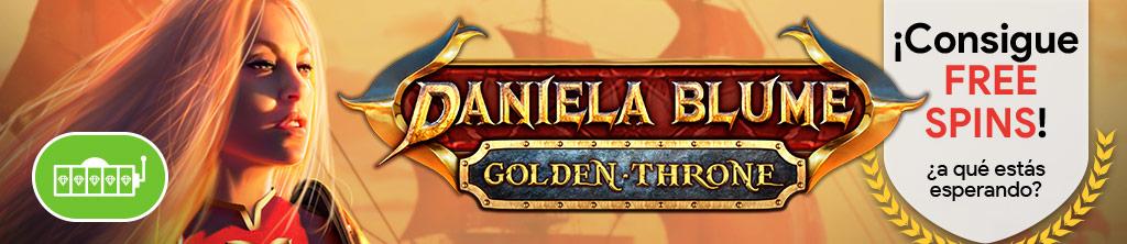 ¡Consigue 20 Free Spins para la slot Daniela Blume Golden Throne!