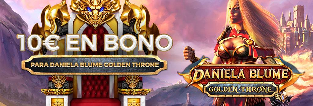 ¡Regalo de 10€ en Bono de Casino para la slot Daniela Blume Golden Throne!