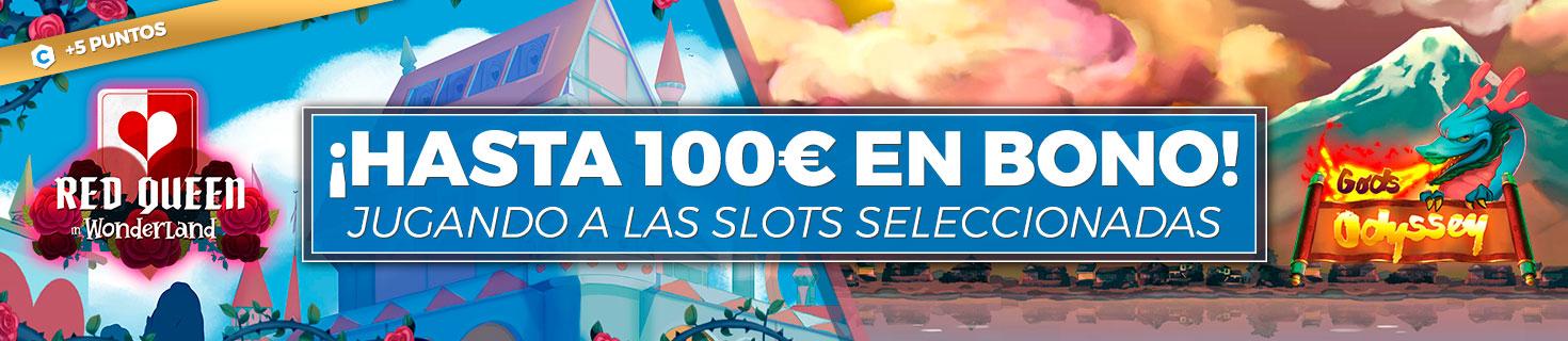 ¡Llévate un Bono de Casino de hasta 100€ jugando a las slots seleccionadas!