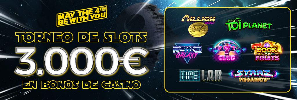 Torneo de Slots especial: May The Fourth ¡Repartimos 3.000€ en Bonos de Casino!