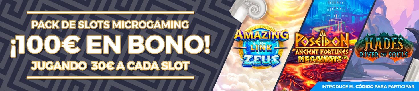 Promoción: Gana 100€ en Bono de Casino jugando a las Slots seleccionadas