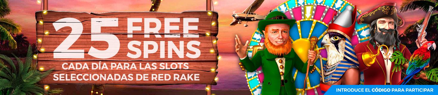 Te regalamos 25 FreeSpins para la Slot seleccionada cada día