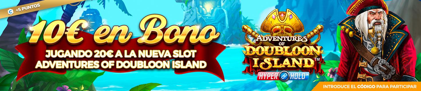 Promoción para Slots: ¡Llévate hasta 50€ con la slot Adventures of Doubloon Island!
