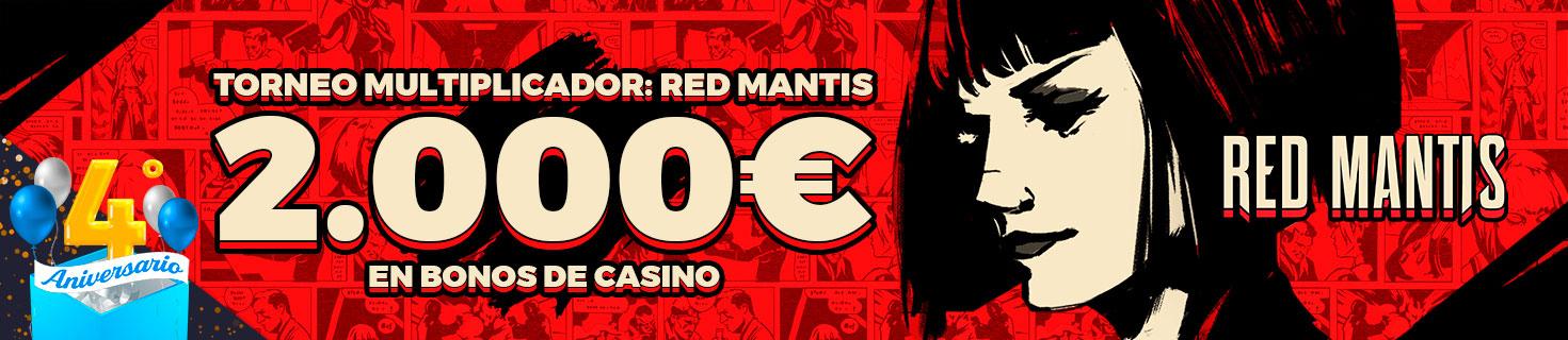 Consigue un multiplicador en Red Mantis ¡Repartimos 2.000€ en bonos!