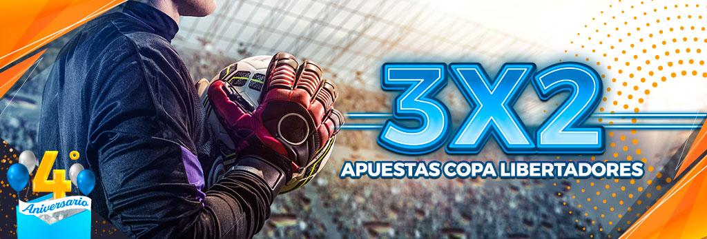 Promoción para tus apuestas de fútbol: Combinada 3x2