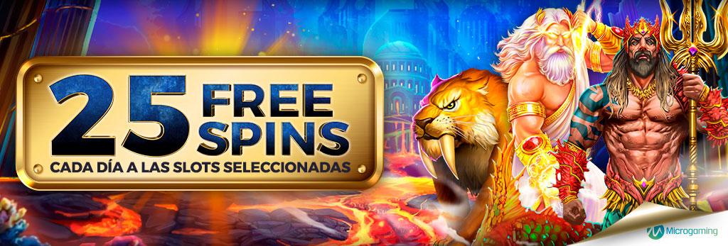 Te regalamos 25 Free Spins para la Slot seleccionada cada día de Microgaming